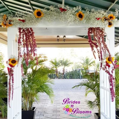 Sunflower & Baby's Breath Arch