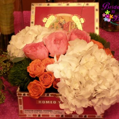 Hydrangea & Rose Cigar Box