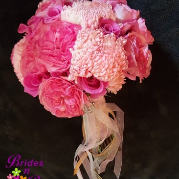 Brides N Blooms Designs Pink Bouquet
