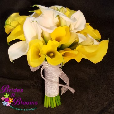 Yellow & White Mini Calla Lily Bouquet