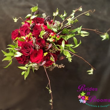 Fiddle Fern, Rose & Ivy Brides Bouquet