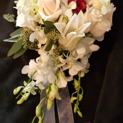 Standard Bouquet w/trailing Orchids