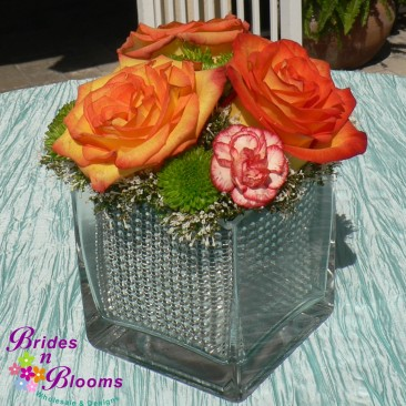Rose Sparkle Cube