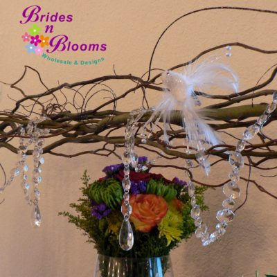 Branches & Crystal Table Decor