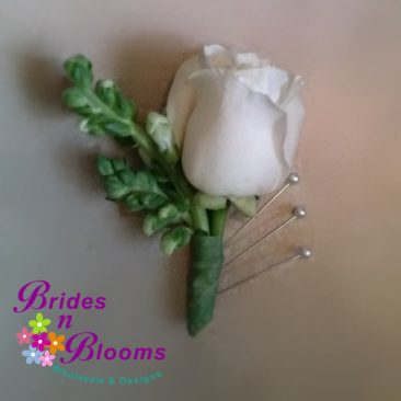 Brides N Blooms Designs, Boutonniere, Rose & Snapdragon