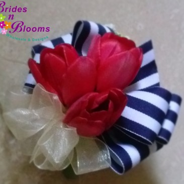 Red Tulip Nautical  Wrist Corsage