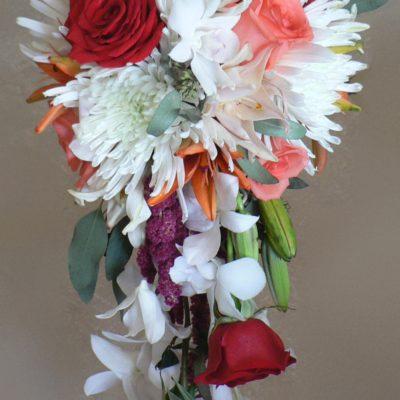Mixed Flower Cascade Bouquet