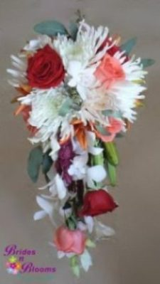 Mixed Flower Cascade Bouquet
