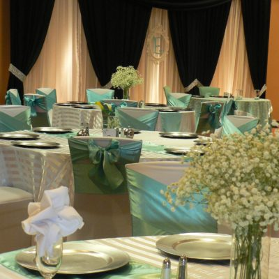Blue & White Decor for Reception Room