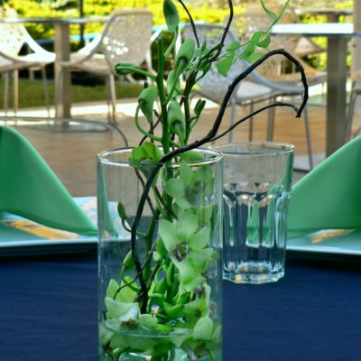 Brides N Blooms  Designs - Green Orchids & Curly Willow
