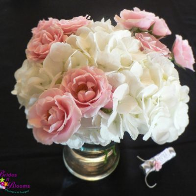 Brides N Blooms Designs, Hydrangea & Spray Rose  Design