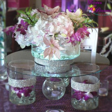 Raised Glass Table Decor