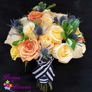 Brides N Blooms Designs Nautical Ribbon Bouquet
