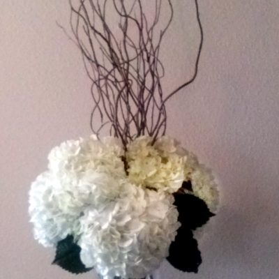 Brides N Blooms Designs -Tall Hydrangea & Curly Willow
