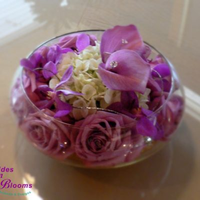 Brides N Blooms Designs - Party It Forward Event - Rose, Hydrangea & orchid bowl