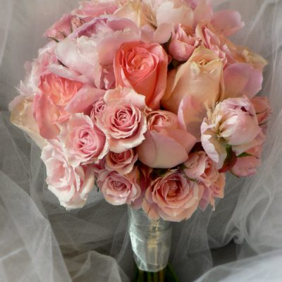 Mixed Rose, Peony & Spray Rose Pink Bouquet