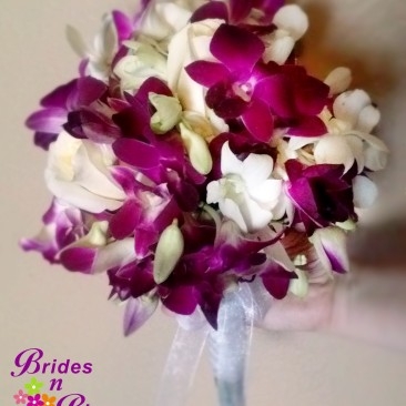 Brides N Blooms Designs Purple Orchid Bouquet