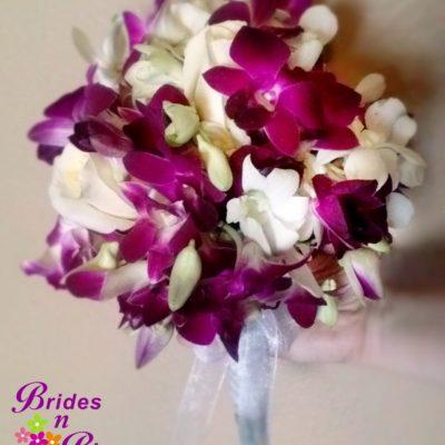 Brides N Blooms Designs Purple Orchid Bouquet