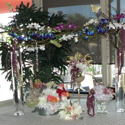 Orchid & Curly Willow Table Arch