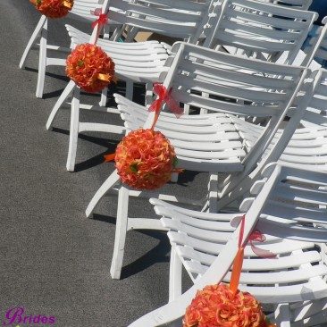 Brides N Blooms, Wholesale & Designs, Pomanders for Chairs