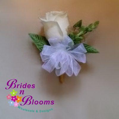 Brides N Blooms Designs, single rose corsage