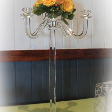 Candelabra design for both Ceremony & Reception area.