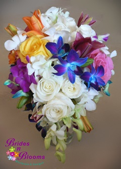 Brides N Blooms, Roses, Orchids & Lily Bouquet