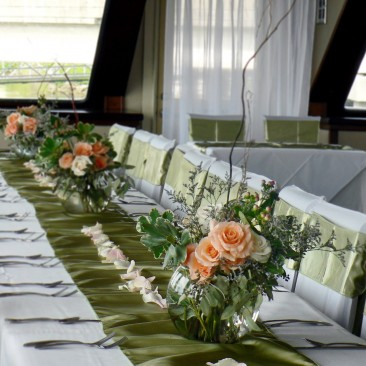 Brides N Blooms -  Sage Green & Peach Decor