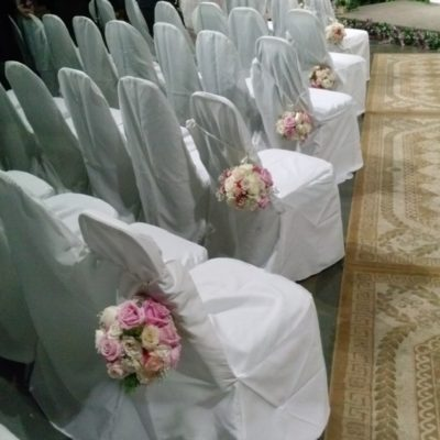 Rose Pomander Aisle Designs