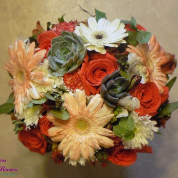 Brides N Blooms, Wholesale & Designs - Brides Bouquet - Mixed Flowers with Succulents