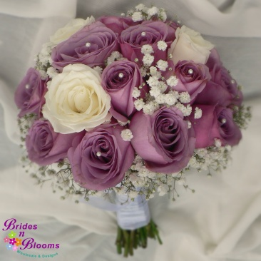 Lavender  & White Brides Bouquet