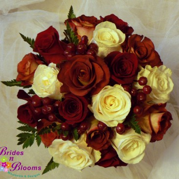Brides N Blooms, Wholesale & Designs, Roses & Hypericum Berry