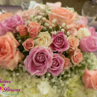 Garden Style with Roses, Spray Roses & Hydrangea