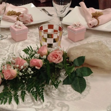 Brides N Blooms Designs Rose Spray for Sweetheart Table
