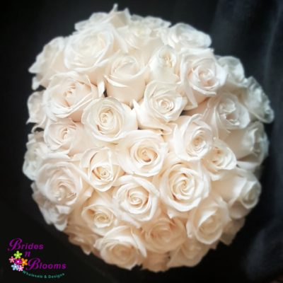 Traditional White Rose Bouquet