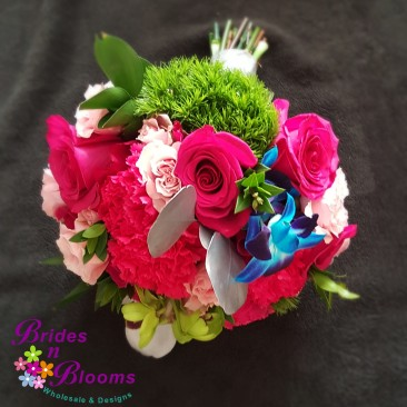 Mixed Flower bouquet with Silver Highlights