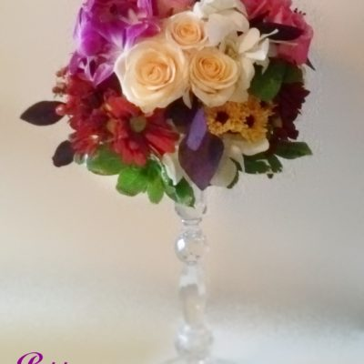Candlestick Mixed Flower Design