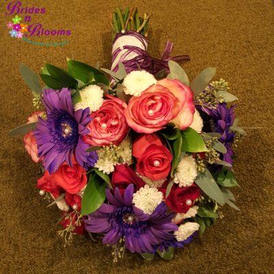 Daisy, Rose, Mum Brides Bouquet
