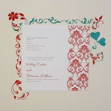Fleur De Le invitation Watercolor Addition