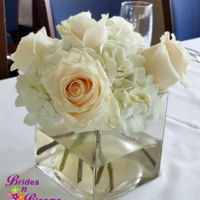 Hydrangea & Rose cube