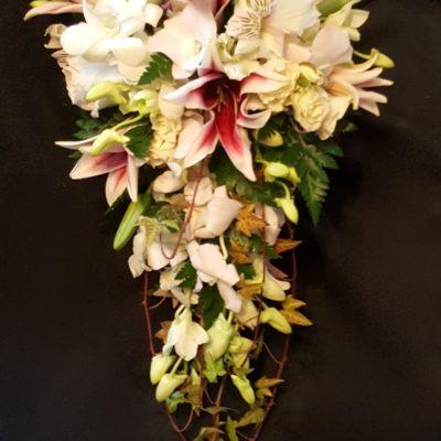 Lily, Orchid, Alstromeria, Rose cascade