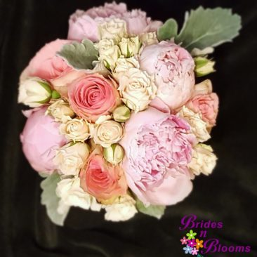 pink peony rose bouquet