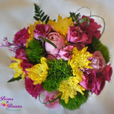 Fuschia, Yellow & Green Bouquet