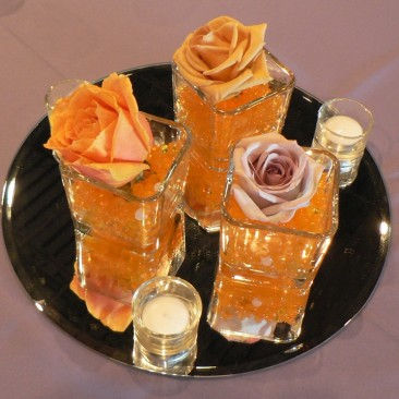 Single Rose with gels centerpiece