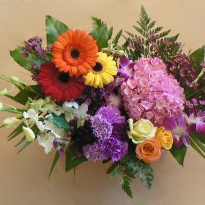 Garden Style Centerpiece with Assorted Flowers
