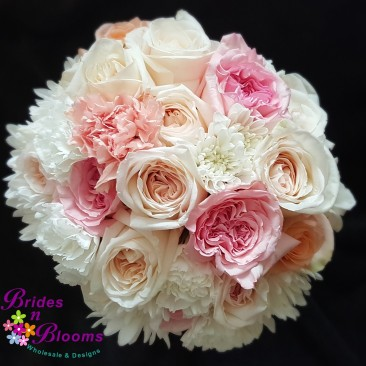 Peach, Pink & White Bouquet