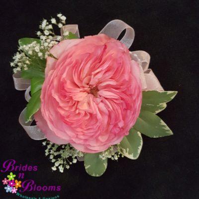 Pink Garden Rose Wrist Corsage