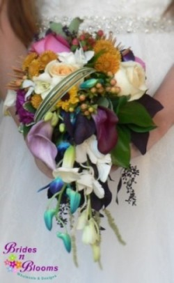 Small Cascade Bouquet Mixed Flowers