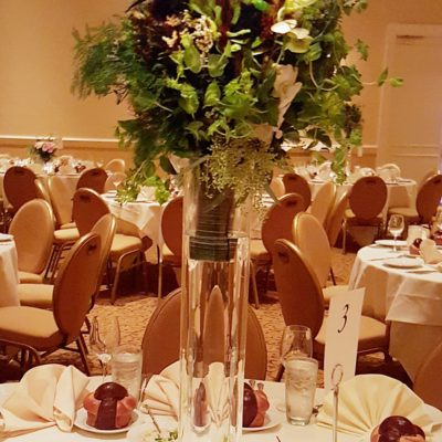 Greenery Bouquet Style Cylinder