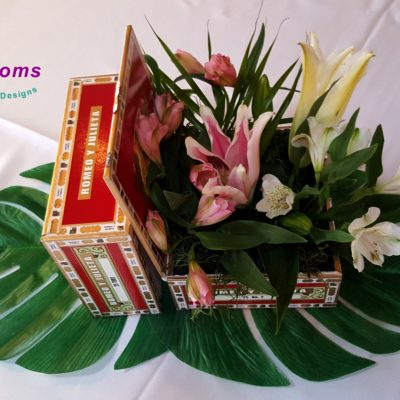 Cigar boxes with Lilies